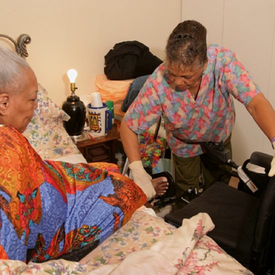 Picture of home care worker